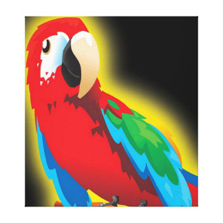 Multi Colored Parrot Canvas
