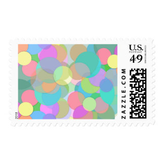 Multi Colored Party Bubbles and Circles Postage
