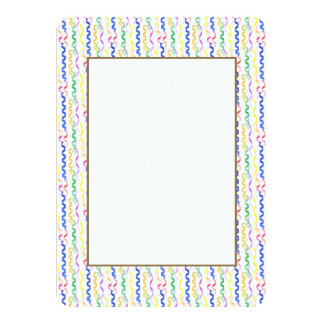 Multi Colored Party Streamers on White Card