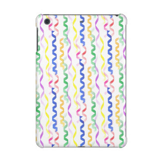 Multi Colored Party Streamers on White iPad Mini Cases