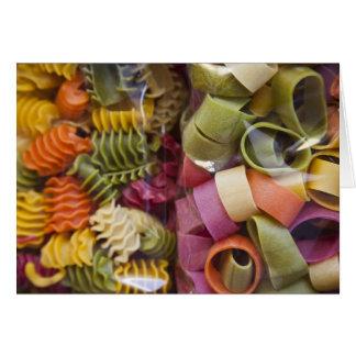 Multi colored pasta, Torri del Benaco, Verona Card