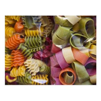 Multi colored pasta, Torri del Benaco, Verona Postcard
