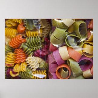 Multi colored pasta, Torri del Benaco, Verona Poster