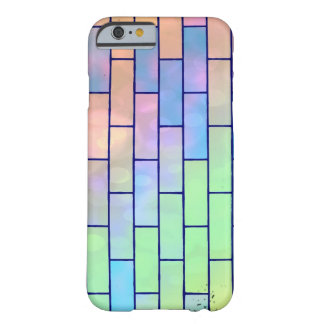 Multi Colored Pastel Bricks Barely There iPhone 6 Case