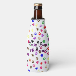 Multi-Colored Pawprint Bottle Cooler