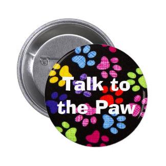 Multi-Colored Paws Button