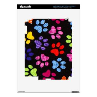 Multi-Colored Paws iPad 3 Skin