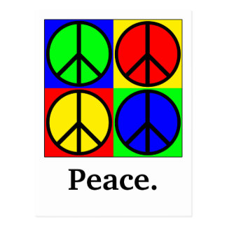 Multi-Colored Peace Sign Greeting Card