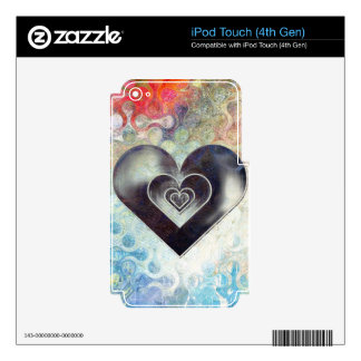 Multi Colored Pencil Sketching Abstract Heart iPod Touch 4G Decal