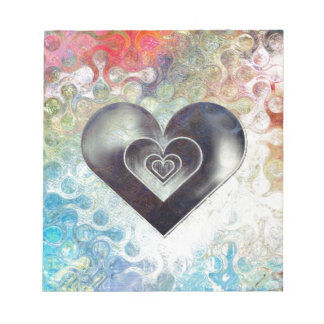 Multi Colored Pencil Sketching Abstract Heart Notepad