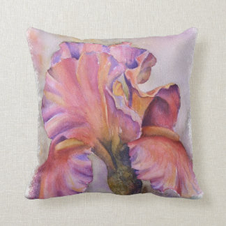 MULTI-COLORED PINK IRIS TOSS PILLOW