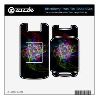 Multi Colored Pinwheel BlackBerry Pearl Skins