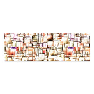 Multi Colored Pipes Pattern. Geometric Art Business Card Templates