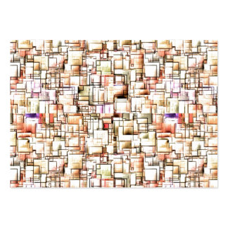 Multi Colored Pipes Pattern. Geometric Art Large Business Cards (Pack Of 100)