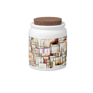 Multi Colored Pipes Pattern Geometric Art Candy Jars
