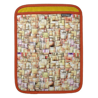 Multi Colored Pipes Pattern. Geometric Art Sleeve For iPads