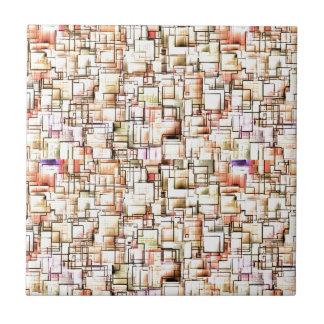 Multi Colored Pipes Pattern Geometric Art Ceramic Tiles