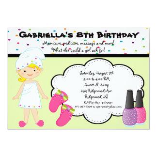 Multi Colored Polka Dot Girls Spa Invite