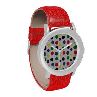 Multi Colored Polka Dot Watch