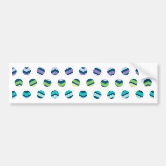 Multi Colored Polka Dots Chevron Car Bumper Sticker
