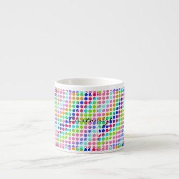 Beach Themed multi-colored polka dots Thunder_Cove Espresso Cup