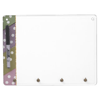 Multi Colored Polka Dotss Dry Erase Board With Keychain Holder