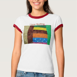 Multi-Colored Quilt Block, I Love Quilting T-shirt