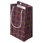 Multi-colored Quilt Pattern Small Gift Bag
