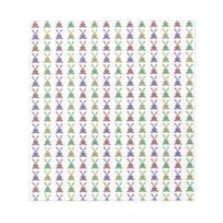 """""""Multi Colored Rabbits Design & Pattern"""" Memo Note Pad"""