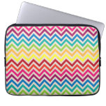 Multi-Colored Rainbow Candy Chevron pattern Computer Sleeves
