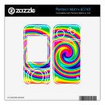 Multi-Colored Rainbow Twirl Pantech Matrix Skins