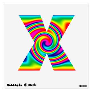 Multi-Colored Rainbow Twirl Wall Decal