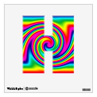 Multi-Colored Rainbow Twirl Wall Sticker