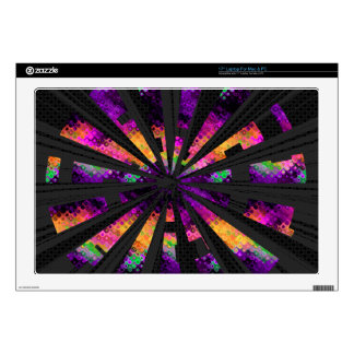 """multi-colored rays 17"""" laptop skin"""