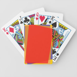 MULTI-COLORED RECTANGULAR TRANSPARENT PAPER SHAPES BICYCLE PLAYING CARDS