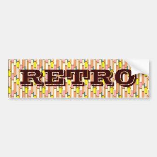 Multi Colored Retro Art Bumper Stickers