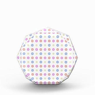 Multi Colored Retro Vintage Polka Dots Acrylic Award