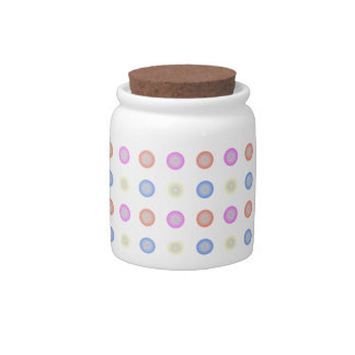 Multi Colored Retro Vintage Polka Dots Candy Jars