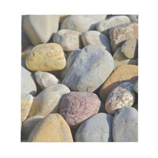 Multi colored rocks memo note pad