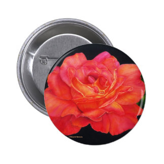 Multi-colored Rose Oils On Canvas-print Pinback Buttons