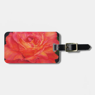 Multi-colored Rose Oils On Canvas-print Travel Bag Tag