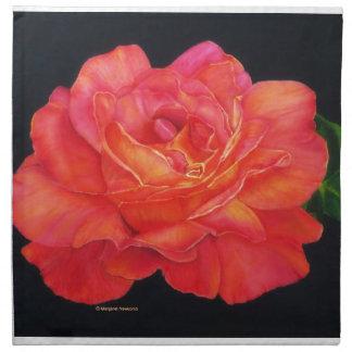 Multi-colored Rose Oils On Canvas-print Printed Napkins