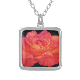 Multi-colored Rose Oils On Canvas-print Custom Necklace