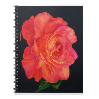 Multi-colored Rose Oils On Canvas-print Spiral Notebook