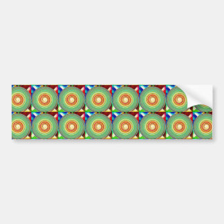 """""""Multi Colored Round and Square Pattern"""" Bumper Sticker"""