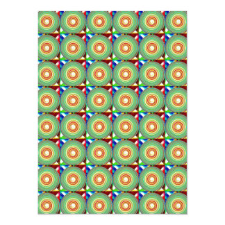 """""""Multi Colored Round and Square Pattern"""" Card"""