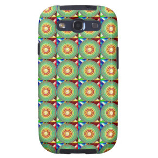 """""""Multi Colored Round and Square Pattern"""" Galaxy SIII Covers"""