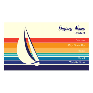 Multi-colored Sailing themed Business Card