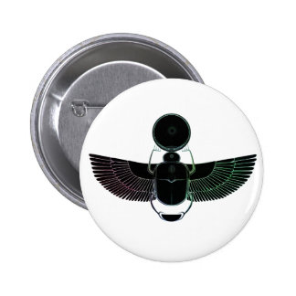 Multi-colored Scarab Pinback Buttons