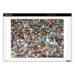 "Multi Colored Sequin Customize Add Text Decals For 17"" Laptops"